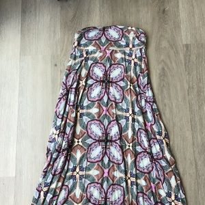 Renee C printed maxi skirt